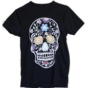 Halloween Adult Female Black Day of the Dead Costume T-Shirt (Medium) Pk 1