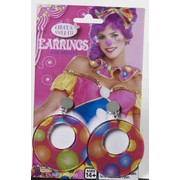 Circus Polka Dots Clip-on Hoop Earrings (1 Pair) Pk 1