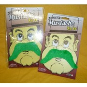 St Patrick's Day Green Moustache Pk 1 (1 MOUSTACHE ONLY)