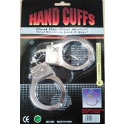 Police Metal Handcuffs & Keys Pk 1