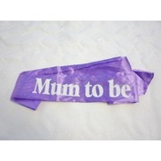 Lilac Mum To Be Sash Pk 1