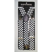 Black & White Check Suspenders (Adult) Pk 1