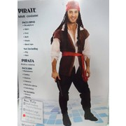 Adult Deluxe Pirate Costume (One Size Fits Most) Pk 1