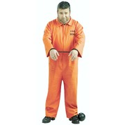 Adult Prisoner Orange Jumpsuit Costume (One Size Fits Most) Pk 1
