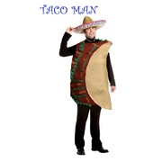 Adult Mexican Taco Man Costume (Large, 42-44) Pk 1