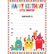 Monsters Party Invitation Pad Pk 20