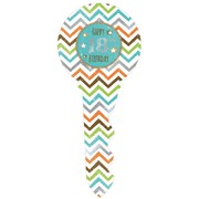 18th Birthday Chevron Keepsake Key (35cm) Pk 1