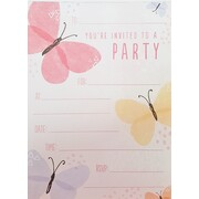 Butterflies Party Invitation Pad Pk 20