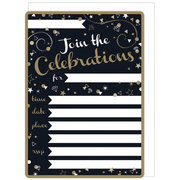 General Celebration Invitations & Envelopes Pk 16