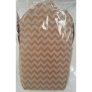 Kraft Brown Chevron Party Noodle Box (16oz) Pk 4
