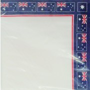 Australian Flag Border Print Lunch Napkins Pk 16
