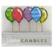 Bright Balloons Party Candles Pk5