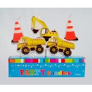 Construction Party Candles Pk 5