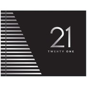 Black & Silver Striped 21st Birthday Keepsake Book Pk 1