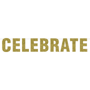 Celebrate Gold Glitter Party Banner (1.9m) Pk 1