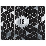 18th Birthday Black & Silver Geometric Keepsake Book Pk 1