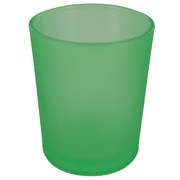 Votive Glass Frosted Apple Green Pk1