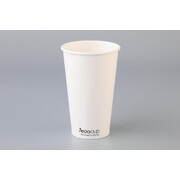 Eco White Single Wall 16oz. (473ml) Coffee Cup Pk 50