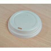Flat Lid for 8oz., 12oz. or 16oz. White Coffee Cups & Kraft Brown Coffee Cups Pk 50