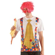 Men's Clown with Big Tie Faux Real T Shirt (X Large) Pk 1