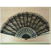 Black Lace Fan (23cm) Pk 1