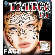 Full Face Cheetah FX Tattoo Pk 1