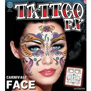 Full Face Carnivale FX Tattoo Pk 1