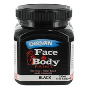 Black Face and Body Paint 250ml Pk 1