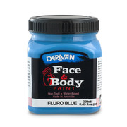 Fluoro Blue Face and Body Paint (250ml Jar) Pk 1
