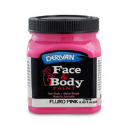 Fluoro Pink Face and Body Paint (250ml Jar) Pk 1