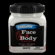 White Face and Body Paint 250ml Pk 1
