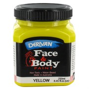 Yellow Face and Body Paint 250ml Pk 1