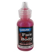 Hot Pink Glitter Face Paint 36ml Pk 1