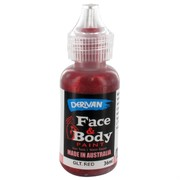 Red Glitter Face Paint 36ml Pk 1