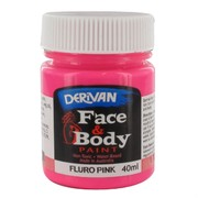 Fluro Pink Face Paint 40ml Pk 1