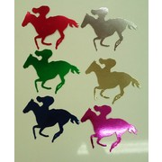 Small 120mm Horse Cutouts (Assorted Colours) Pk 6