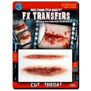 Medium Cut Throat 3D FX Scar Transfer Pk 1