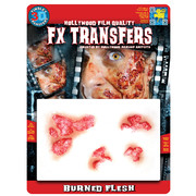 Medium Burned Flesh 3D FX Scar Transfer Pk 1