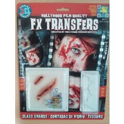 Medium Glass Shards 3D FX Scar Transfer Pk 1