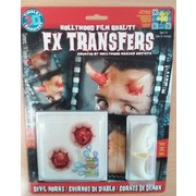 Medium Devil Horns 3D FX Scar Transfer Pk 1