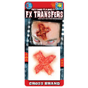Small Branded Cross 3D FX Scar Transfer Pk 1