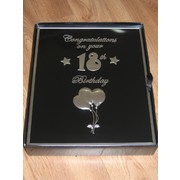 Black & Silver 18th Birthday Photo Album Pk 1