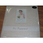 Cream Rose Patterned Engagement Album Pk 1