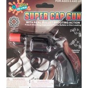 Detective Pistol 8 Shot Cap Gun Pk 1 (CAPS NOT INCLUDED)