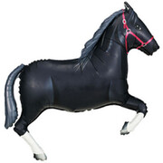 Black Horse 43in. Supershape Foil Balloon Pk 1 (Melbourne Cup)