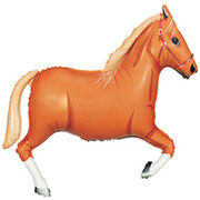 Tan Horse 43in. Supershape Foil Balloon Pk 1 (Melbourne Cup)