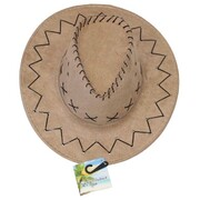 Child Tan Outback Cowboy Hat with Black Detailing Pk 1