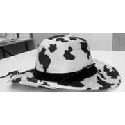 Cowboy Hat Cow Print Fabric Pk1