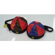 Assorted Design Chinese Fabric Hat with Braid Pk 1 (1 HAT ONLY)