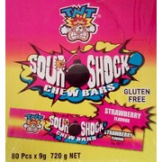 Strawberry Sour Shock Chew Bars (9g) Pk 80